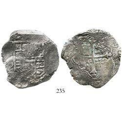 Mexico City, Mexico, cob 8 reales, Philip III, assayer D, Grade 1. S-M18; KM-44.3. 23.6 grams. Full