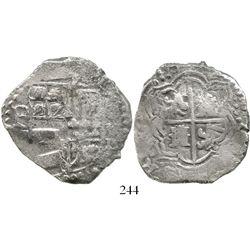 Potosi, Bolivia, cob 8 reales, (16)18T, denomination as O-V-III, quadrants of cross transposed and l