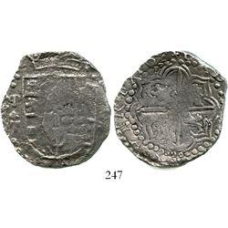 Potosi, Bolivia, cob 8 reales, 1622T, quadrants of cross transposed, backwards P punched over regula