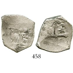 Mexico City, Mexico, cob 2 reales, Philip V, assayer not visible (J), with original salvage tag. S-M