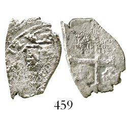 Mexico City, Mexico, cob 1 real, (17)12(J), rare. S-M22; KM-30; CT-1569. 2.1 grams. Bold date, most