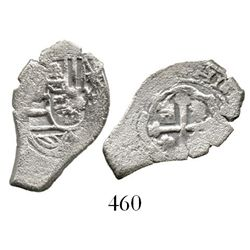 Mexico City, Mexico, cob 1 real, Philip V, assayer not visible. KM-30. 2.8 grams. Very cute coin wit