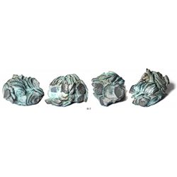 """Clump of over 100 Mexico City, Mexico, cob 1R and 1/2R.  271.6 grams, roughly 2-1/2"""" x 2"""" x 2"""". A ve"""