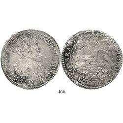 Brabant, Spanish Netherlands (Antwerp mint), portrait ducatoon, Philip IV (young portrait), 1635. KM