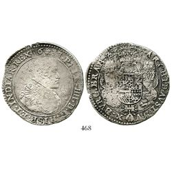 Brabant, Spanish Netherlands (Brussels mint), portrait ducatoon, Philip IV, 1637. KM-72.1. 29.2 gram