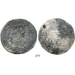 Brabant, Spanish Netherlands (Brussels mint), portrait ducatoon, Philip IV, 1657. KM-72.2. 28.8 gram