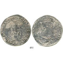 Brabant, Spanish Netherlands (Antwerp mint), portrait ducatoon, Philip IV, 1660. KM-72.1. 31.5 grams