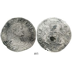 Flanders, Spanish Netherlands, portrait ducatoon, Philip IV, 1665. KM-50. 31.6 grams. Very sharp ful