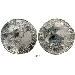 Brabant, Spanish Netherlands (Antwerp mint), portrait ducatoon, Charles II, 1666, rare. KM-79.1. 31.