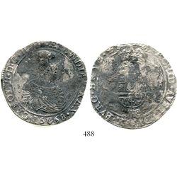 Brabant, Spanish Netherlands (Antwerp mint), portrait ducatoon, Charles II, 1668, rare. KM-79.1. 30.