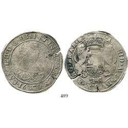 Brabant, Spanish Netherlands (Antwerp mint), portrait ducatoon, Charles II, 1670, rare. KM-79.1. 30.