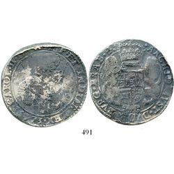 Brabant, Spanish Netherlands (Antwerp mint), portrait ducatoon, Charles II, 1673, rare. KM-79.1. 31.