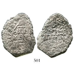 Mexico City, Mexico, cob 8 reales, 1732F. S-M26; KM-47a; CT-764. 21.7 grams. Full date and mintmark,