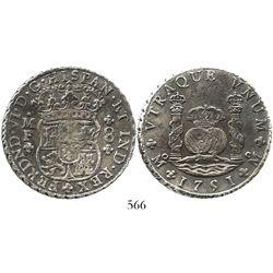 Mexico City, Mexico, pillar 8 reales, Ferdinand VI, 1751MF. KM-104.1; CT-327. 26.3 grams. Darkly ton