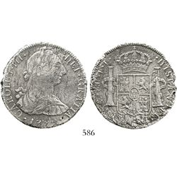 Mexico City, Mexico, bust 8 reales, Charles III, 1779FF. KM-106.2; CT-929. 21.5 grams. Bold detail d