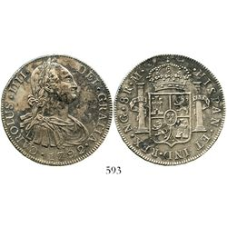 Guatemala, bust 8 reales, Charles IV, 1792M. KM-53; CT-621. 26.7 grams. Incredibly well-detailed str