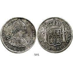 Potosi, Bolivia, bust 8 reales, Charles IV, 1793PR. KM-73; CT-714. 26.7 grams. Very broad, bold exam