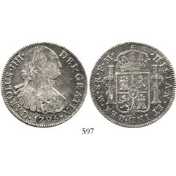 Mexico City, Mexico, bust 8 reales, Charles IV, 1795FM. KM-109; CT-689. 25.1 grams. Deeply toned, go