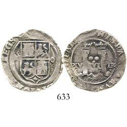 "Mexico City, Mexico, 2 reales, Charles-Joanna, ""Late Series,"" oM to left, O to right. Nesmith-109; S"
