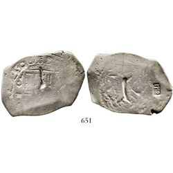 Mexico City, Mexico, cob 8 reales, (1)725D, very rare, with Indonesian countermark. S-M23; KM-49; CT