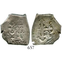 Mexico City, Mexico, cob 4 reales, 1729R. S-M24; KM-40a; CT-1024. 13.4 grams. Bold full oMR, clear b