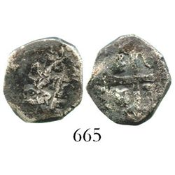 Mexico City, Mexico, cob 1 real, 1729R. S-M24; KM-30; CT-1582. 3.2 grams. Full date and oMR (off-cen