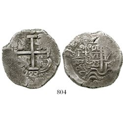 Potosi, Bolivia, 8 reales, 1723Y, rare (missing in Karon), possibly finest known. S-P43a; KM-31; CT-