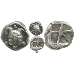 Aegina, AR stater, 430-370 BC. Sear 2600; Milbank pl. 2, 12. 12.3 grams. Land tortoise with segmente