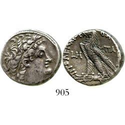 Ptolemaic Kings of Egypt, AR tetradrachm, Cleopatra III & Ptolemy IX Soter II (Lathyros), 116-107 BC
