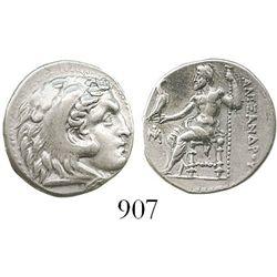"Kings of Macedon, Ancient Greece, AR drachm, Alexander III (""the Great""), 336-323 BC, Miletos mint,"
