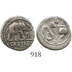 Roman Republic, AR denarius, Julius Caesar, military mint (49 BC). Crawford 443/1; Sydenham 1006. 3.