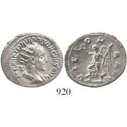 Roman Empire, AR antoninianus, Trajan Decius, 249-251 AD. RIC 29c. 3.8 grams. Radiate, draped and cu