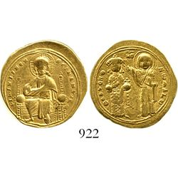 Byzantine Empire (Constantinople mint), AV histamenon nomisma, Romanus III, 1020-1034 AD. DOC 1; Sea