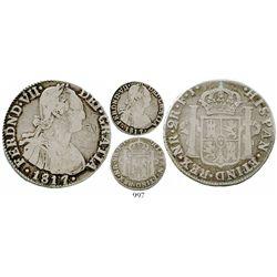 Bogota, Colombia, bust 2 reales, Ferdinand VII (bust of Charles IV), 1817FJ. KM-70.1; Restrepo-113.5