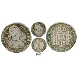 Bogota, Colombia, bust 1 real, Charles IV, 1801JJ (no overdate). KM-58; Restrepo-78.34; CT-1192. 2.9