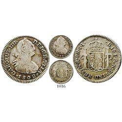 Bogota, Colombia, bust 1 real, Charles IV, 1802JJ. KM-58; Restrepo-78.38; CT-1193. 3.1 grams. AXF wi
