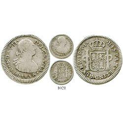 Bogota, Colombia, bust 1 real, Ferdinand VII (bust of Charles IV), 1816FJ. KM-68.1; Restrepo-111.9;