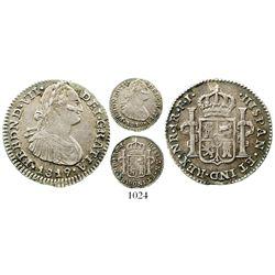 Bogota, Colombia, bust 1 real, Ferdinand VII (bust of Charles IV), 1819FJ. KM-68.1; Restrepo-111.17;