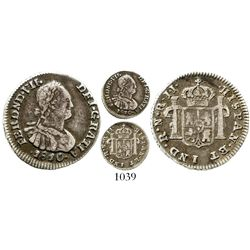 Bogota, Colombia, bust 1/2 real, Ferdinand VII (bust of Charles IV), 1810JJ. KM-69.1; Restrepo-106.1