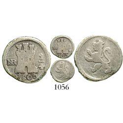 Bogota, Colombia, 1/4 real, Charles IV, 1805, rare. KM-63; Restrepo-75.21; CT-1441. 0.7 gram. AVF wi