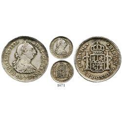 Popayan, Colombia, bust 1 real, Charles III, 1772JS, ex-Ray Johnson, scarce. KM-46.2; Restrepo-40.4;