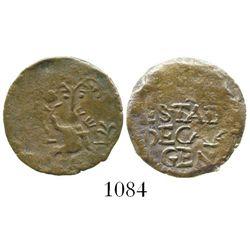 Cartagena (Republican), Colombia, copper 1/2 real, undated type (1811). Restrepo-131.5; KM-D2. 1.5 g