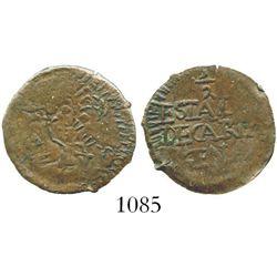 Cartagena (Republican), Colombia, copper 1/2 real, undated type (1811). Restrepo-131.5; KM-D2. 1.7 g