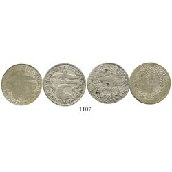 Lot of 2 Colombian 2R (Bogota 1844/3RS and Popayan 1843/2UM). Restrepo-187.10 and 188.10; KM-97.1 an