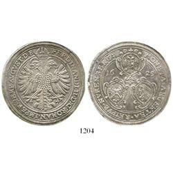 Nurnberg, German States, thaler, Ferdinand II, 1625. KM-52. 29.2 grams. Choice XF+ with luster on ob