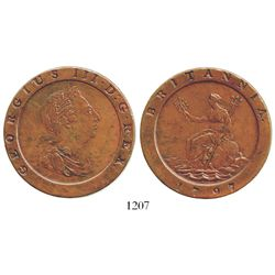 "London, England (Soho mint), copper ""cartwheel"" twopence, George III, 1797. Spink-3776; KM-619. 54.6"