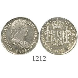 Guatemala, bust 1 real, Ferdinand VII, 1818M. KM-66; CT-1121. 3.3 grams. Choice, lustrous and well-s