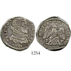 Naples, Italy (under Spain),  Messina, 4 tari, Philip III, 1617. Spahr-37. 10.5 grams. Nicely toned