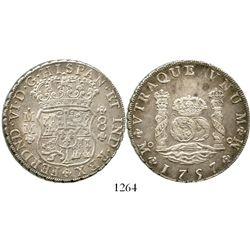 Mexico City, Mexico, pillar 8 reales, Ferdinand VI, 1757MM. KM-104.2; CT-342. 27.0 grams. Lustrous a