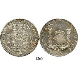 Mexico City, Mexico, pillar 8 reales, Ferdinand VI, 1759MM. KM-104.2; CT-344. 26.8 grams. Lustrous A